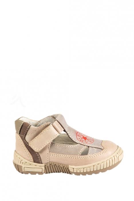 1345B2E Kifidis Melania Hakiki Deri İlk Adım Çocuk Ayakkabısı 20-26 Vizon / Taupe