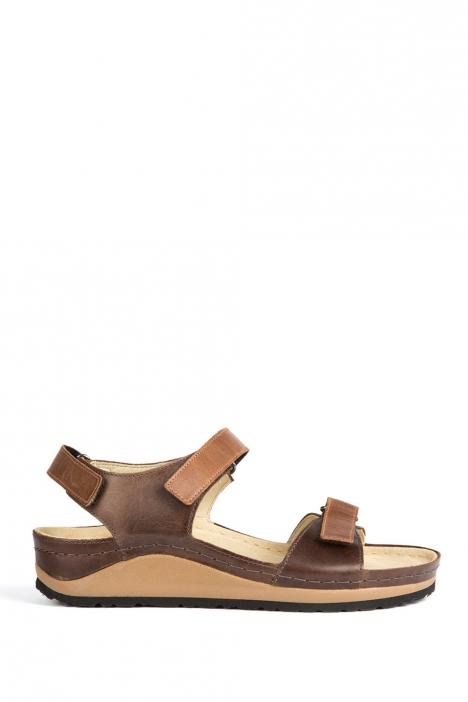 1353 Berkemann Kadın Anatomik Deri Sandalet 3-8,5 Muskat / Braun - 465