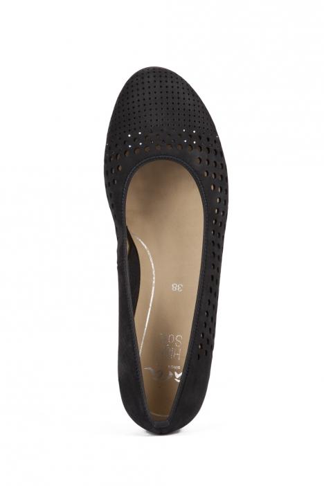14316 Ara Kadın Dolgu Topuk Nubuk Ayakkabı 36-41 NUBUK-SP, BLAU - 02NSB