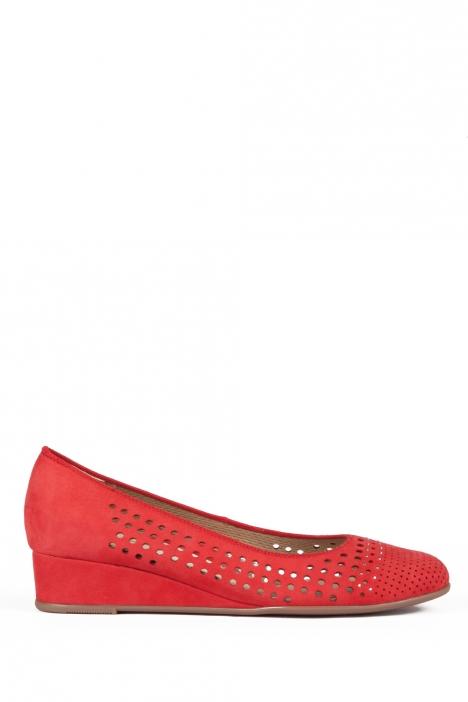 14316 Ara Kadın Dolgu Topuk Nubuk Ayakkabı 36-41 NUBUK-SP, ROT - 06NSR