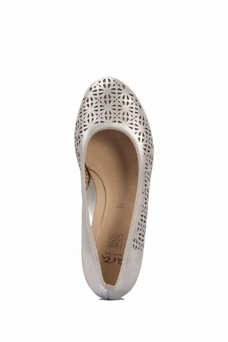 14334 Ara Kadın Dolgu Topuk Deri Ayakkabı 36-41 WEISS, GOLD - 07WG