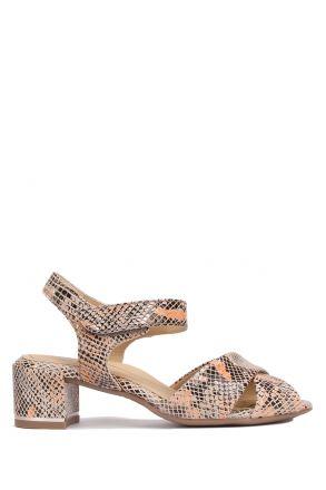 15940 Ara Kadın Topuklu Deri Ayakkabı 3.0-7.0