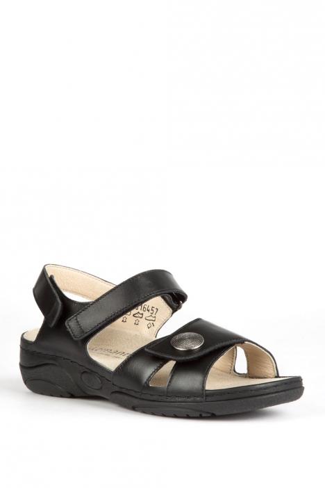 1605 Berkemann Kadın Anatomik  Sandalet 3-8,5 Schwarz Kalbsleder - 901