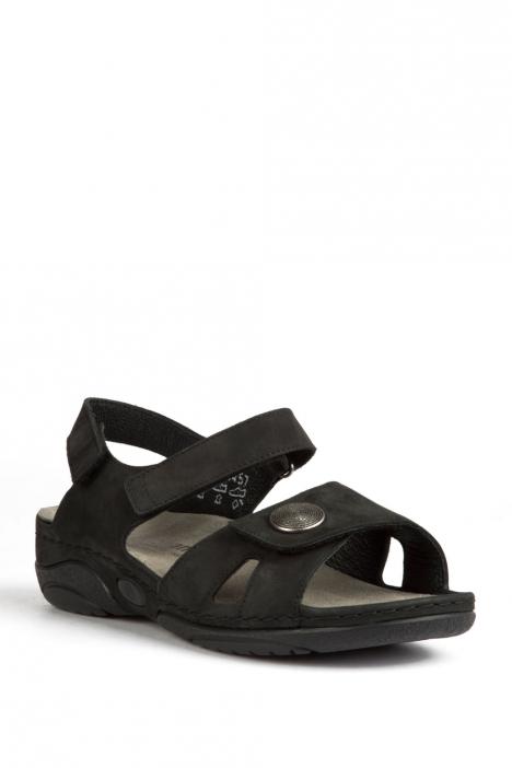 1605 Berkemann Kadın Sandalet 3-8,5 Schwarz Nubukleder - 910
