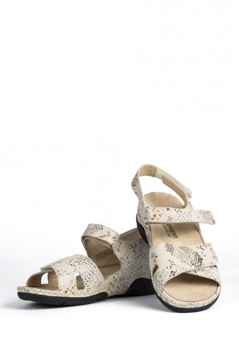 1605 Berkemann Kadın Sandalet 3-8,5 Beige Schlangendruck - 755