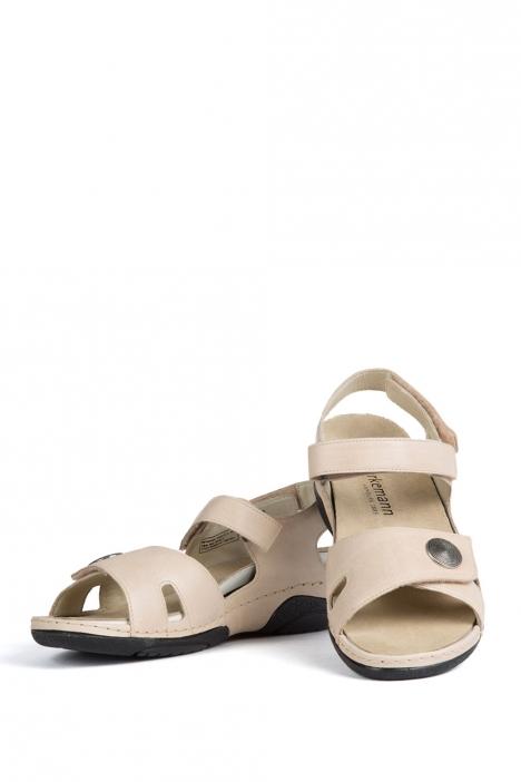 1605 Berkemann Kadın Anatomik  Sandalet 3-8,5 Creme Kalbsleder - 132