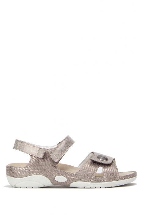 1605 Berkemann Kadın Sandalet 3-8,5 Bronze/Glitter Leather - 430