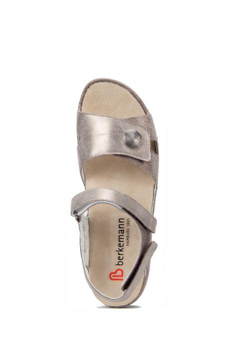 1605 Berkemann Kadın Anatomik  Sandalet 3-8,5 Bronze/Glitter Leather - 430