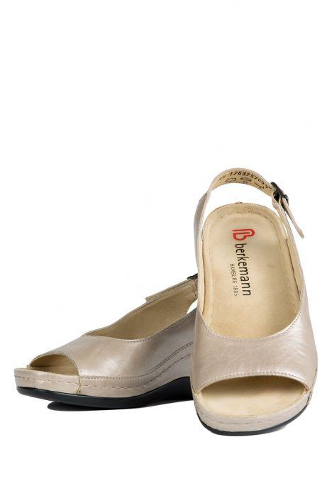 1763 Berkemann Kadın Anatomik Sandalet 3.0-8.5 Beige Perlato - 757