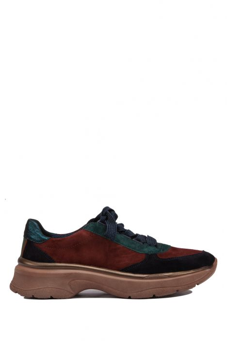 18842 Ara Kadın Süet Spor Ayakkabı 36-41 VELOUR,SPACEKI,BLA/MAR