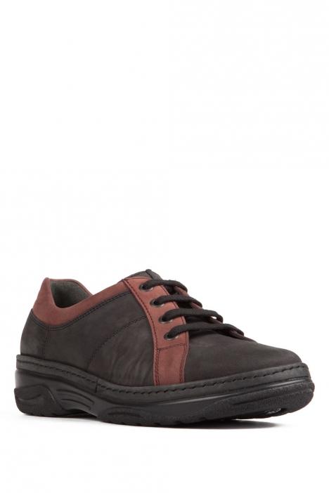 1910 Berkemann Kadın Ayakkabı 3-8,5 Schwarz/Bordeaux-Nubuk - B-916
