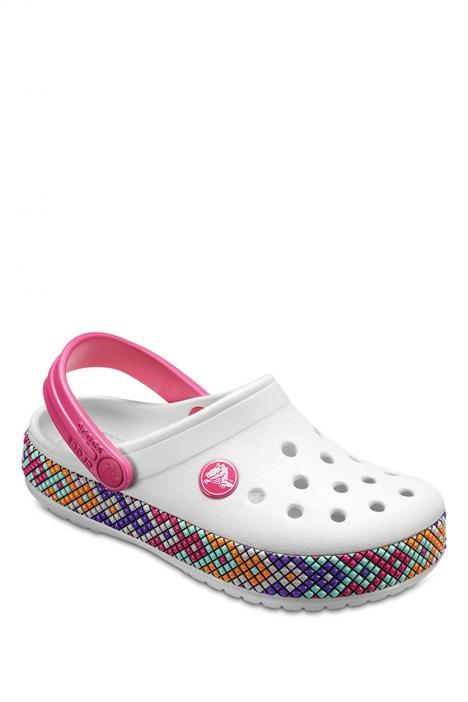 20171 Crocs Crocband Gallery Çocuk Sandalet 22 - 34 Oyster