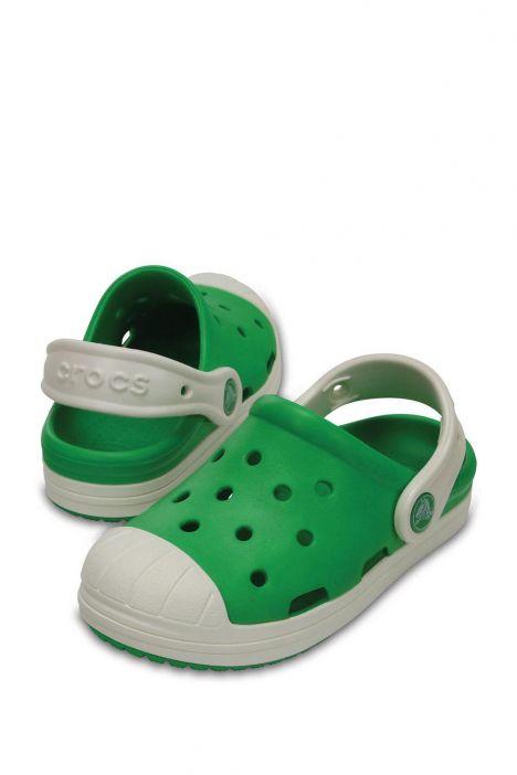 202282 Crocs Kids Crocs Bump It Clog Çocuk Sandalet 23-34 Yeşil / Green