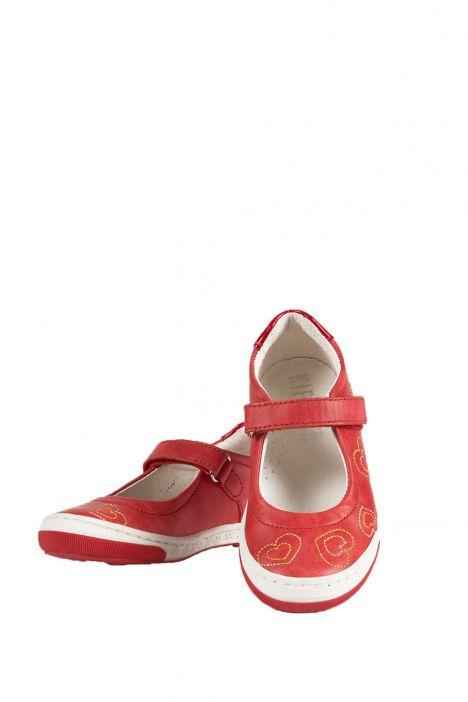 2026D4 Kifidis Melania Hakiki Deri Çocuk Ayakkabı 24-32 Kırmızı / Rosso