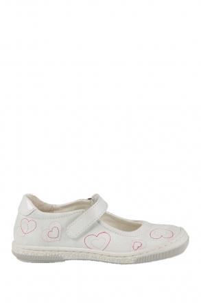 2026D4 Kifidis Melania Hakiki Deri Çocuk Ayakkabı 24-32 Beyaz / Bianco