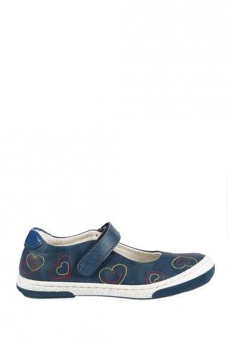 2026D4 Kifidis Melania Hakiki Deri Çocuk Ayakkabı 24-32 BLU-MAVİ TONU