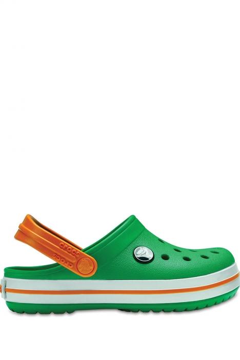 204537 Crocs Crocband Çocuk Sandalet 23-34 GRASS GREEN WHITE / BLAZING ORANGE