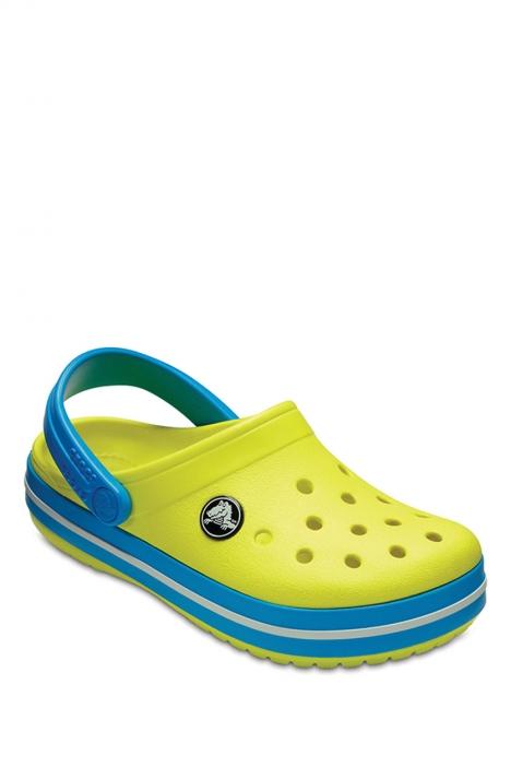 204537 Crocs Crocband Çocuk Sandalet 23-34 TENNIS BALL GREEN / OCEAN