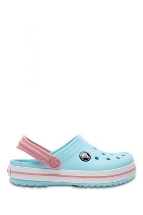 204537 Crocs Crocband Çocuk Sandalet 23-34 ICE BLUE / WHITE - Beyaz MAvi