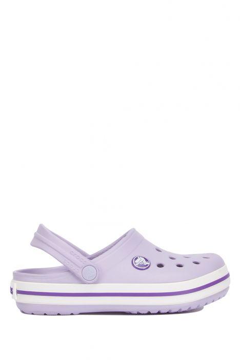 204537 Crocs Crocband Çocuk Sandalet 23-34 Lavender/Neon Purple - Lila
