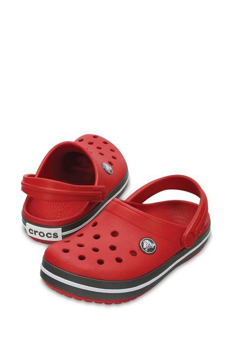 204537 Crocs Crocband Çocuk Sandalet 23-34 PEPPER / GRAPHITE - Kırmızı