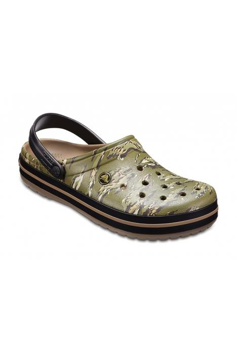 204553 Crocs Unisex Terlik 39-45 DARK CAMO GREEN