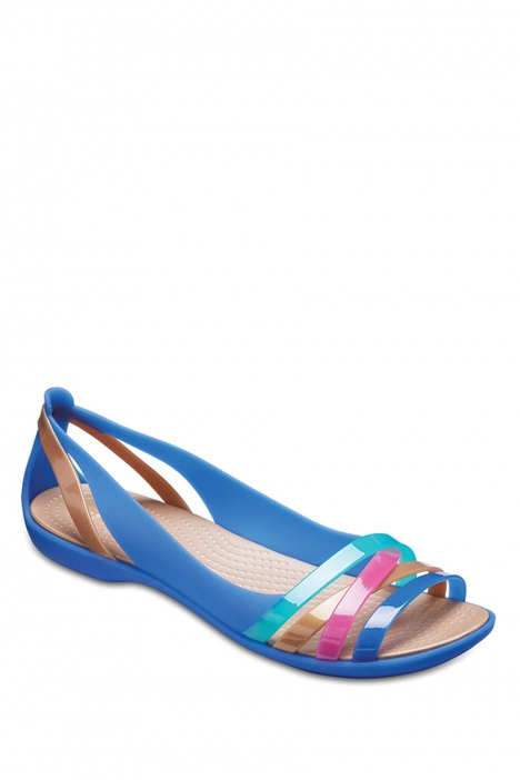 204912 Crocs Isabella Huarache Kadın Sandalet 36-39 Blue Jean/Gold
