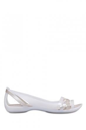 204912 Crocs Isabella Huarache Kadın Sandalet 36-39 Oyster/Cobblestone
