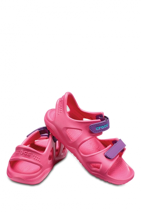 204988 Crocs Swiftwater River Çocuk Sandalet 22-34 PARADISE PINK / AMETHYST