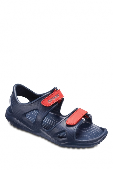 204988 Crocs Swiftwater River Çocuk Sandalet 22-34 Navy / Flame