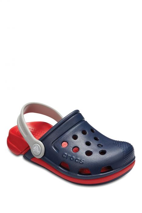 204991 Crocs Electro III Clog Çocuk Sandalet 22-34 Navy / Flame