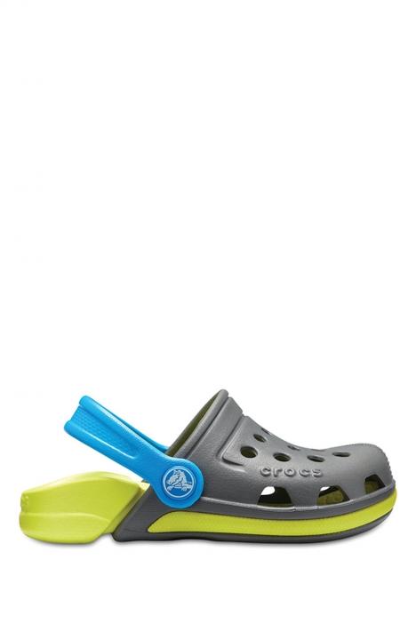 204991 Crocs Electro III Clog Çocuk Sandalet 22-34 Slate Grey / Tennis Ball Green