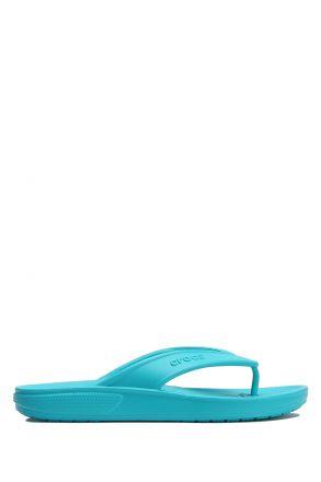 206119 Crocs Classic Flip Kadın Terlik 36-39 Digital Aqua - Turkuaz