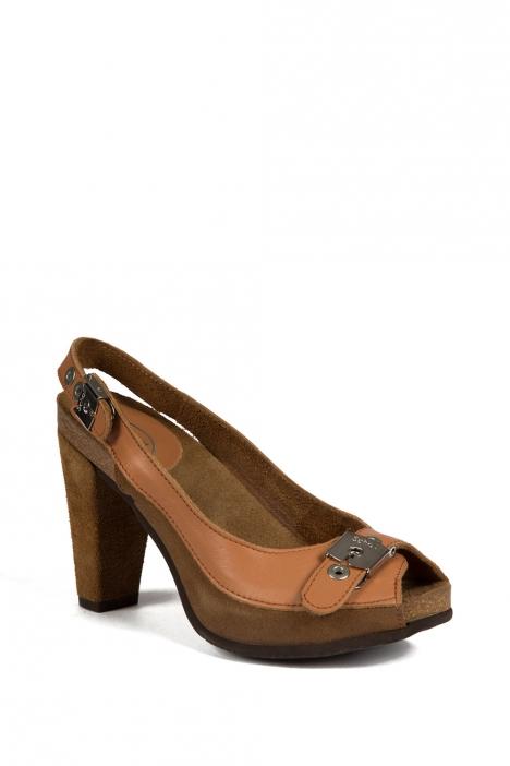 22667 Scholl Deste Kadın Topuklu Ayakkabı 35-40 TAN