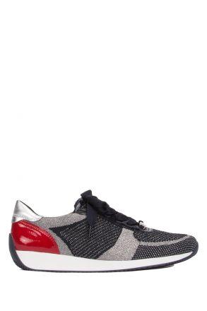 24027 Ara Kadın Spor Ayakkabı 3.5-8.0 METALLIC-BLAU-SILBER/NAVY-ROSSO - 38MN