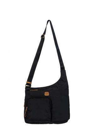 2732 Bric's X-Bag Postacı Çantası 32x28x8 cm Siyah / Black