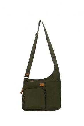 2732 Bric's X-Bag Postacı Çantası 32x28x8 cm Yeşil / Olive