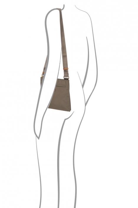 2733 Bric's X-Bag Omuz Çantası 27x25x4 cm Gri / Mud