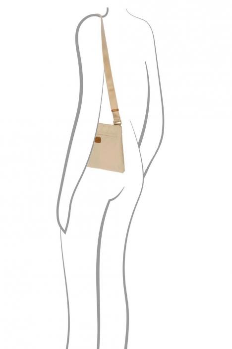 2733 Bric's X-Bag Omuz Çantası 27x25x4 cm Bej / Papyrus