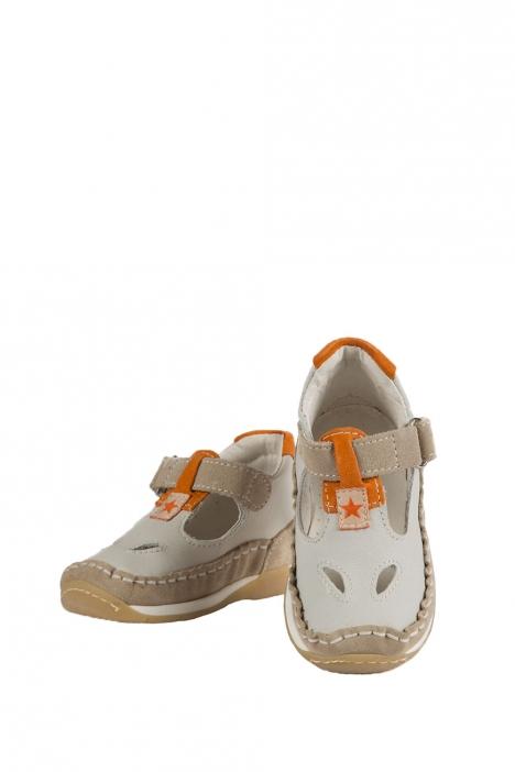 3007B4E Kifidis Melania Hakiki Deri İlk Adım Çocuk Ayakkabısı 19-26 Bej / Beige