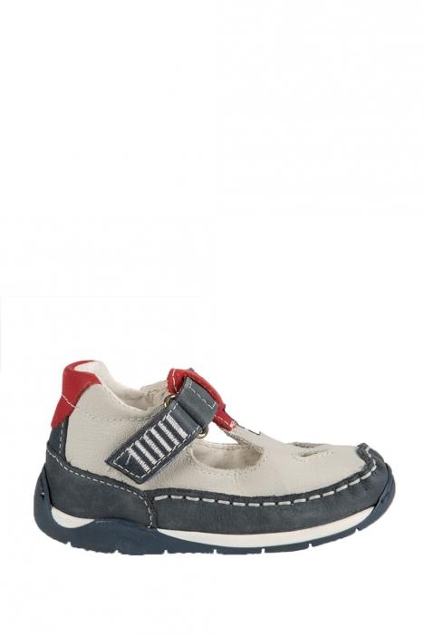 3007B4E Kifidis Melania Hakiki Deri İlk Adım Çocuk Ayakkabısı 19-26 Mavi / Blue