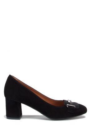 301 Kifidis Kadın Tokalı Süet Topuklu Ayakkabı 36-41