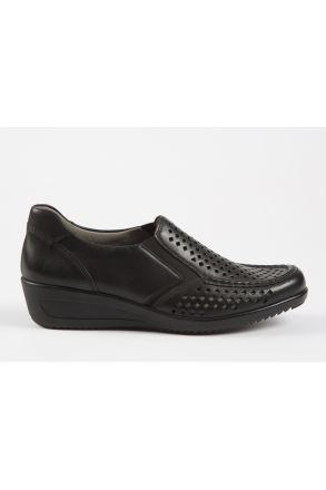30601 Ara Kadın Dolgu Topuk Deri Ayakkabı 3,5-8,5