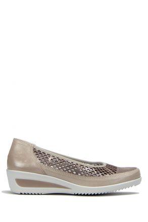 30662 Ara Kadın Dolgu Topuk Deri Ayakkabı 3,5-8