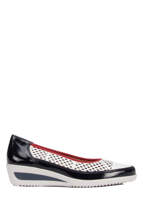 30666 Ara Kadın Dolgu Topuk Ayakkabı 3.5-8.0 NAVY, WEISS - 06NW