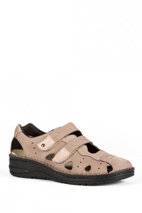 3100 Berkemann Kadın Anatomik Sandalet 3.0-8.5 Taupe Nubuck - 701
