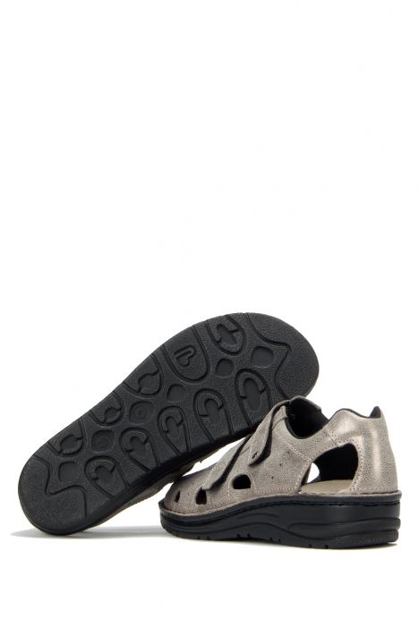 3100 Berkemann Kadın Anatomik Sandalet 3.0-8.5 Bronze/Glitter Leather - 429G