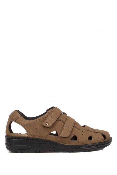 3100 Berkemann Kadın Anatomik Sandalet 3.0-8.5 Khaki-Nubuk - 497