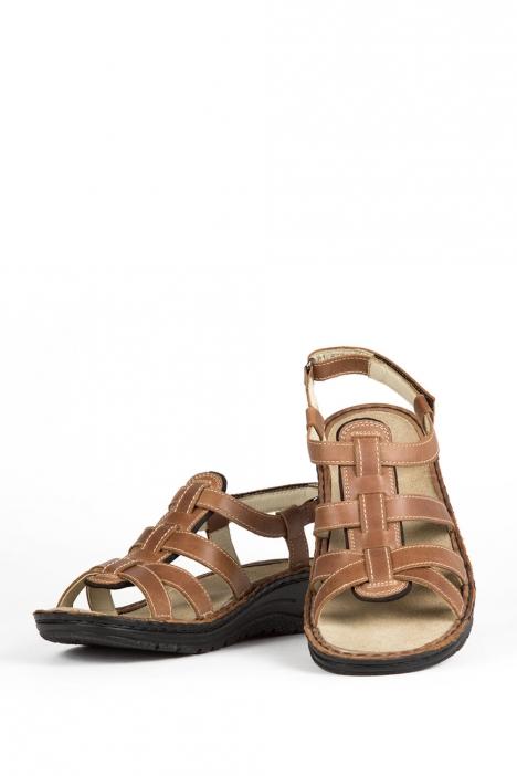 3105 Berkemann Kadın Anatomik Deri Sandalet 3-8,5 Braun Nappaleder - 401