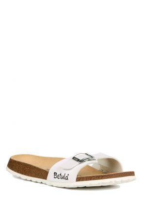 312693 Birkenstock Betula Luca Kadın Terlik Beyaz / White